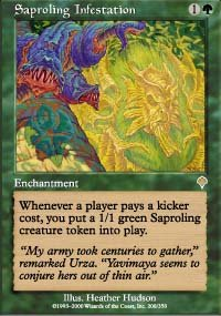 Magic the Gathering Card - Saproling Infestation (Invasion)