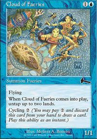 (4) Magic the Gathering Cards - Cloud of Faeries