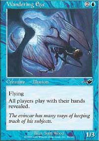 (4) Magic the Gathering Cards - Wandering Eye