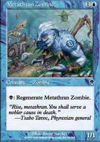 (4) Magic the Gathering Cards - Metathran Zombie