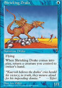 (4) Magic the Gathering Cards - Shrieking Drake