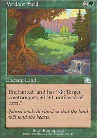 Magic the Gathering Card - Verdant Field (Prophecy)