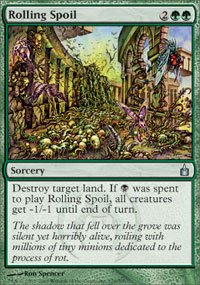 Magic the Gathering Card - Rolling Spoil (Ravnica)