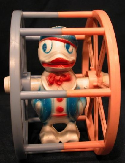 Vintage Disney Donald Duck Like Baby Toy Wheel