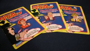 Dick Tracy Clip On Magnet Lot by Playmates New