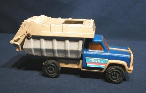 US Made Tonka Toy Garbage Truck Trash Packer Pressed Steel