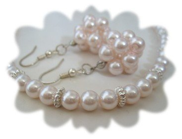 Imitate Pearl Necklace and Earrings Set