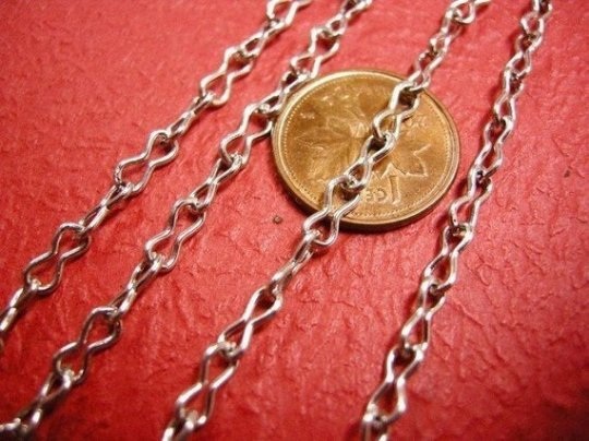 5 feet silver antique finish peanut shape unsoldered chain-396A
