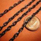 5 feet 6x3.5mm gunmetal  finish flat link chain-2719