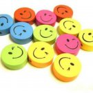 sale-24pc mix wood happy face round beads-1388Ax2