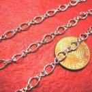 5 feet bright silver finish metal mother and son chain-3454