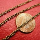 5 feet 3x2.2mm antique bronze finish metal chain-3439
