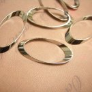 12pc 29x14mm platinum look brass made oval links-5942