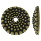12pc 15x3mm antique bronze finish metal dome shape bead caps-757A