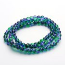 31 Inch Strand Of Glass Spray Painted 8mm glass beads(over 100 beads)-10417