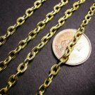 5 feet 5x3.5mm gold finish unsoldered flat link chain-2642