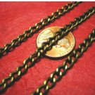 5 feet 6x4mm antique bronze finish metal twisted chain-3452