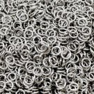 200pc 4mm antique silver finish jump rings gauge 20-2844
