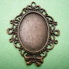 2pc Antique Copper Finish Alloy Cabochon Settings-3179A