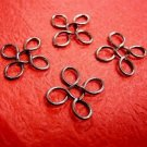 10pc gunmetal finish 4 leaf shape wired beads/connector-3031