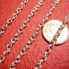 5 feet 4x3mm silver finish side twist chain-2685