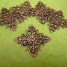 10pc diamond shape antique bronze center piece/wraps-612