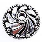 12pc 12.5mm antique silver finish metal bead cap-1067D
