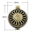 2pc 44x33mm antique bronze finish metal photo locket pendant-9961