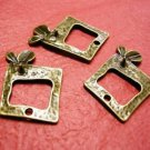 6pc antique bronze finish metal alloy pendant-2420B
