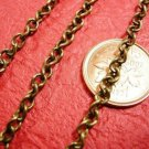 5 feet 4.5x3mm antique bronze finish twisted chain-2664