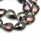 4pc 24x17mm Teardrop Crystal Glass Beads-7229X