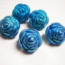 sale-6pc skyblue large acrylic flower beads-2312