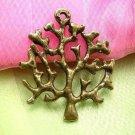2pc 45mm antique bronze finish metal tree pendant-507