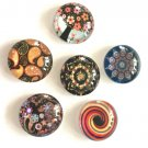 8pc 10mm mix pattern glass cabochons -8010a