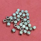 50pc 4x3.5mm antique silver cubic style metal beads-1067E