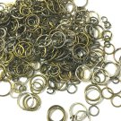 20 Grams mix size and color  unsodered jump rings-7259