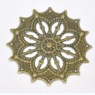 10pc 43mm antique bronze metal filigree center piece/wraps-5965