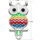 4pc 34x17mm zinc alloy enamel  owl pendant-6105