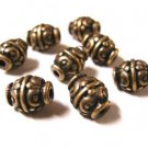 12pc antique copper finish lead and nickel free fancy bead-1829