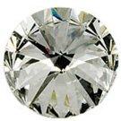 12pc Machine Cut Pointed back Foil Rhinestone 10mm crystal clear-9015