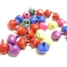 50pc 9x7mm mix color metal bell charms-8866
