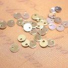 100pc 4mm platinum look Brass Slim Pendants/Blanks-8801