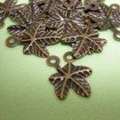 60 pieces 14mm antique copper filigree maple leaf charms-1373x2