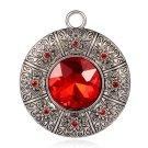 1pc 66x57mm zinc alloy pendant with glass cabochon -7779c