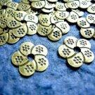 50pc flower shape antique bronze metal finding-933