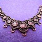1 pc fancy  antique copper finish metal center piece-1509