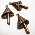 6pc antique copper finish metal mushroom pendant-3364
