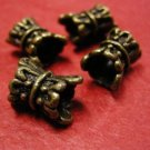 6pc antique bronze finish metal nickel free fancy bead-141A