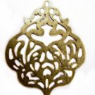 6pc antique bronze metal iron pendant-4119