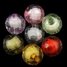 20pc 12mm mix color facted acrylic round beads-7228J